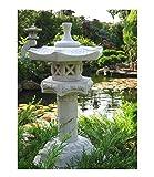 Japanische Steinlaterne Yukimi auf Säule S